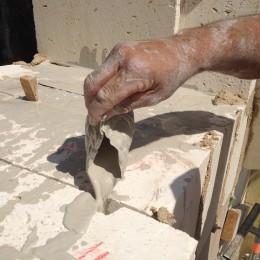 détail de maçonnerie traditionnelle