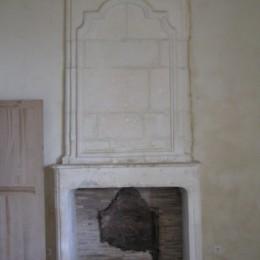création d'une cheminée à l'ancienne avec manteau et tablette