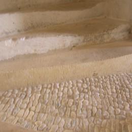 Restauration d'une marche d'escalier