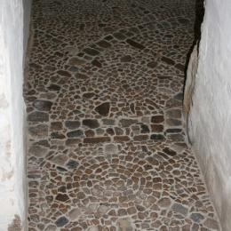Sol en pierre façon pisé