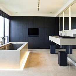 Dallage pour salle de bain en pierre naturelle