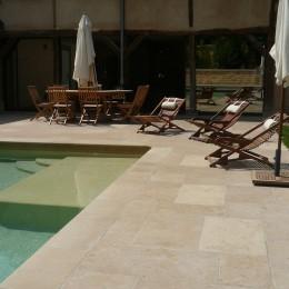 création d'une terrasse pour piscine