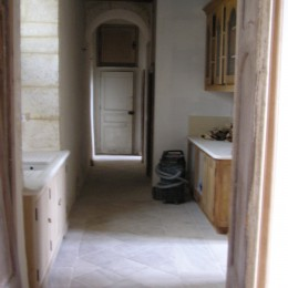 creation of carved stone pavement for kitchen